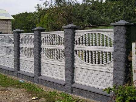 бетонные секции еврозаборов