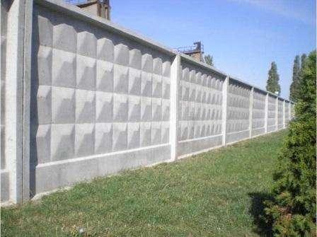 Классическая версия бетонного забора