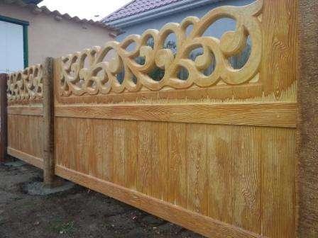 бетонный забор под дерево