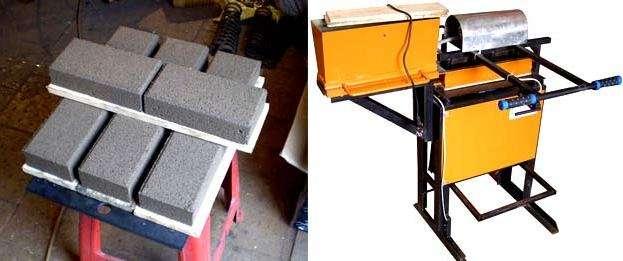 Два основных способа для изготовления тротуарной плитки: