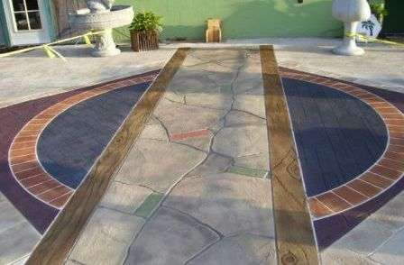 Декоративный бетон и фасадный камень