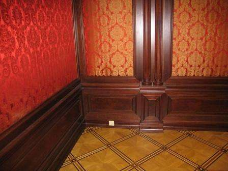 Установка деревянных панелей