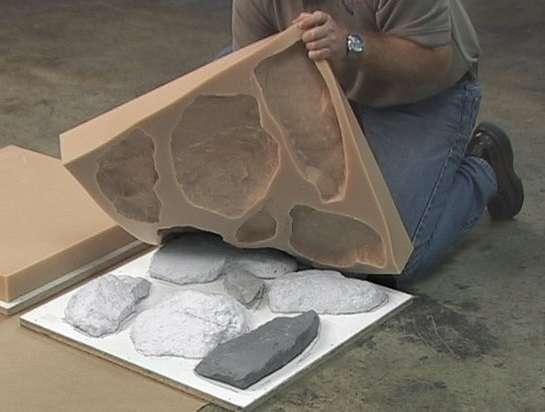 гипсовая плитка под камень для внутренней отделки фото