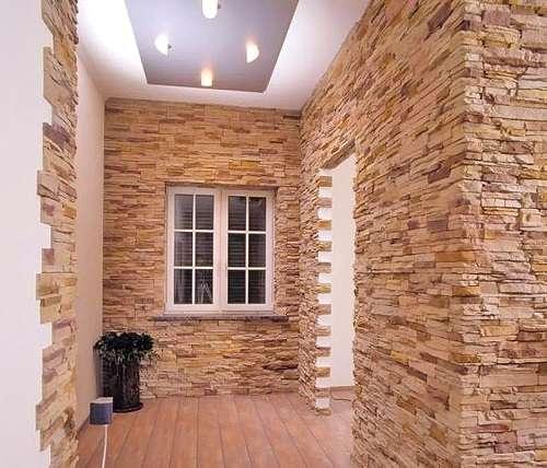 Гипсовая плитка под камень для внутренней отделки: фото и технические характеристики материала