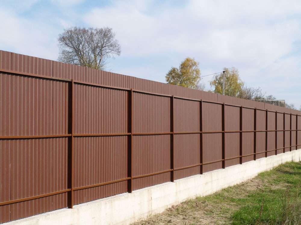 Забор профлист бетон бетон купить в кировграде