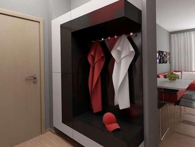 Мебель для маленькой прихожей в квартире, фото дизайна интерьера