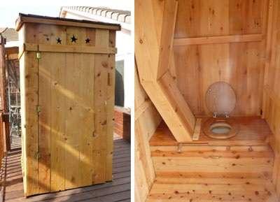 Торфяные туалеты для дачи без запаха легко возводятся на территории