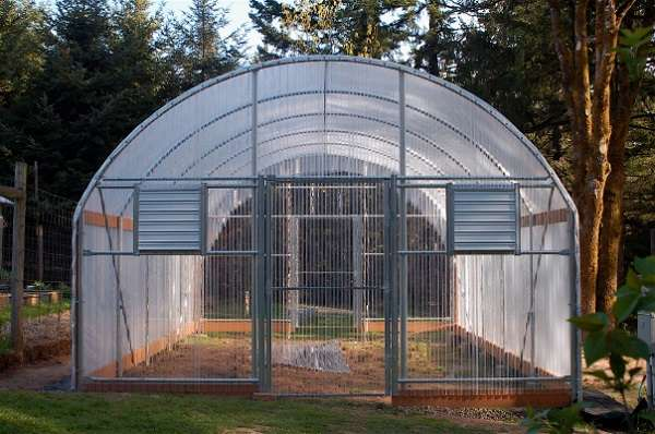 пристроить теплицу к стене дома или другой сельскохозяйственной постройки