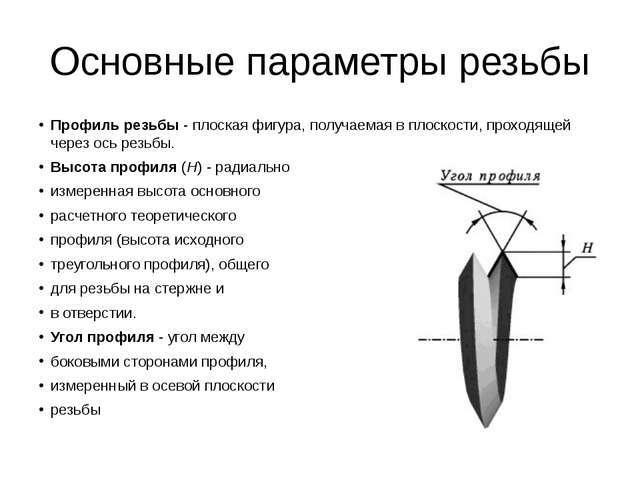Резьбовые параметры фитингов для металлических труб