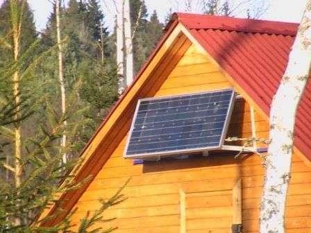 Выходящее напряжение солнечных батарей —12 В, 24 В и более.