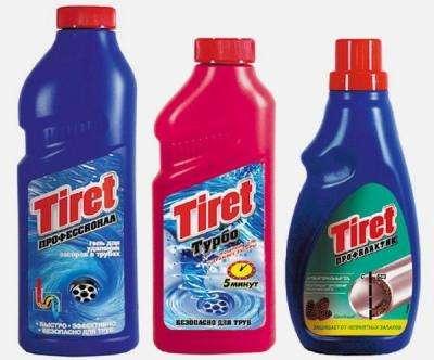 «Тирет» рекомендовано использовать не только в борьбе с загрязнениями в канализации, но и для профилактики подобных проблем.