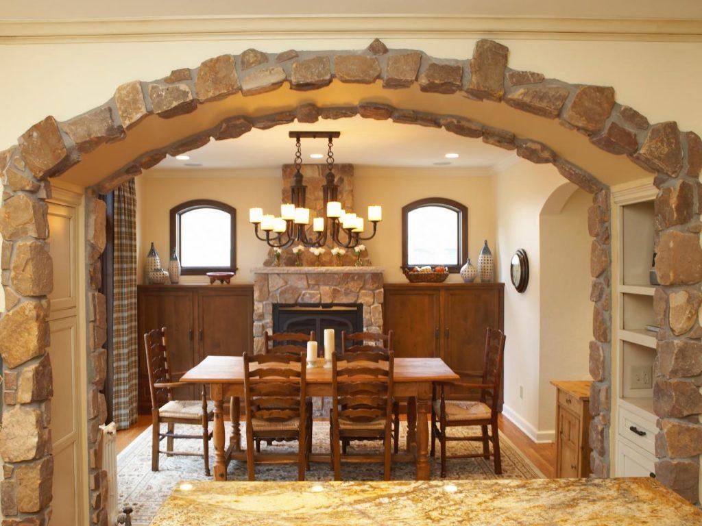 отделка комнат натуральным камнем