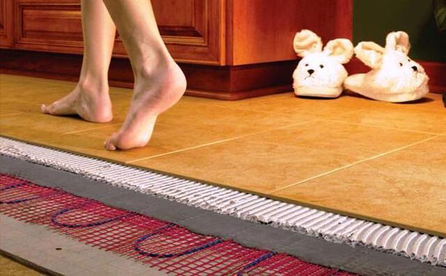 Современный теплый пол под плитку – выгодное и практичное решение