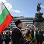 Протестующие забросали яйцами и помидорами здание МВД в Болгарии