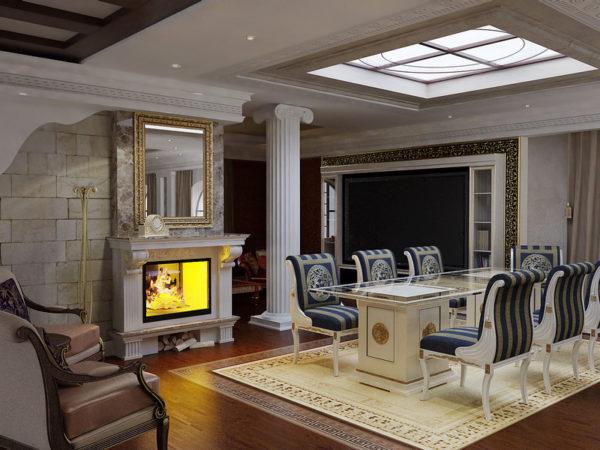 Античный стиль интерьера квартиры