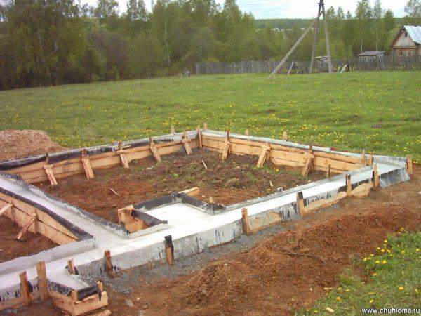 Как построить фундамент для бани