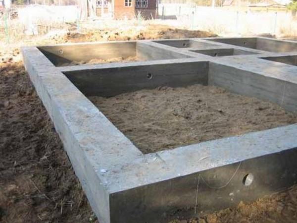 Ленточный фундамент для бани. Возведение ленточного фундамента