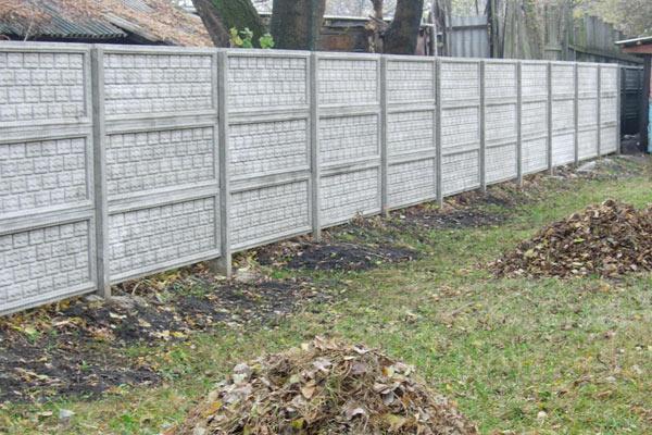Легкий бетонный забор