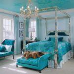 Дизайн бирюзовой спальни 3 на 4: изысканный и стильный интерьер