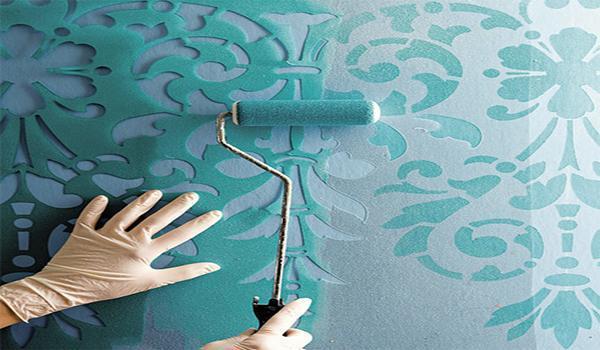 Трафареты приходят напомощь или как раскрасить стены своими руками
