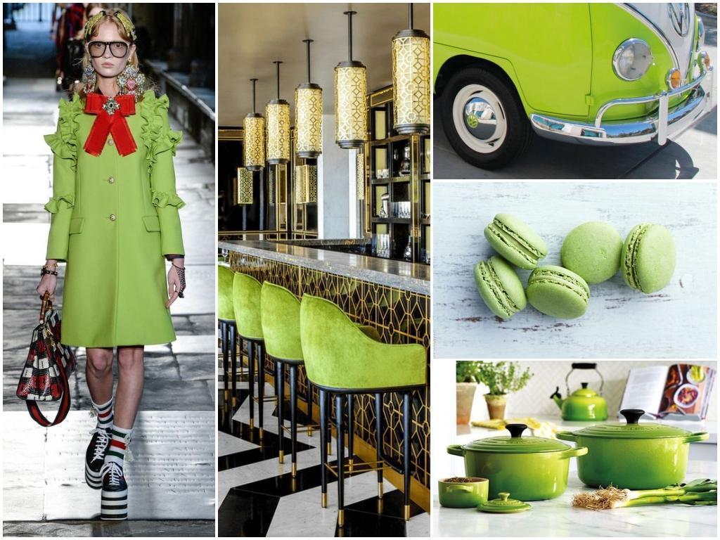 Цвет года Greenery в дизайне интерьера