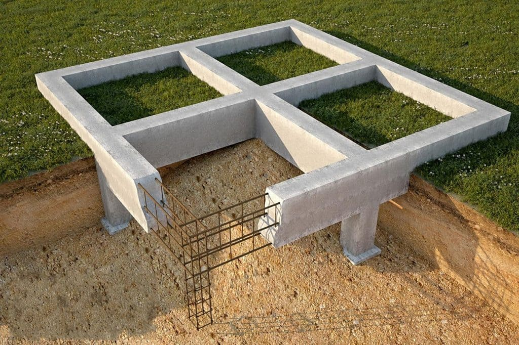 Приготовление бетонной смеси для фундамента
