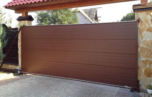 Консольные автоматические откатные ворота в Киеве недорого